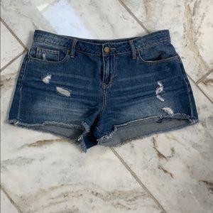 Calvin Klein Cut Off Jean Shorts